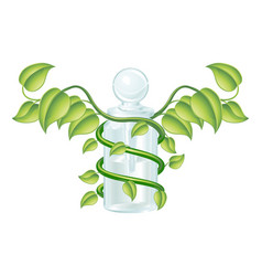 natural caduceus bottle concept vector image vector image