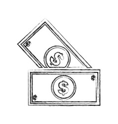 bill money isolated icon vector image vector image