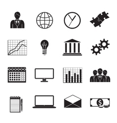 Business Flat Generic Icons Set vector image vector image