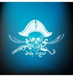 Label pirate theme vector