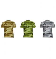 military shirts vector image