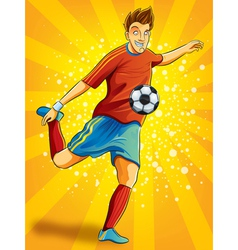 Soccer Player Shooting a Ball vector image