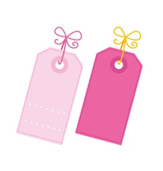Valentine tags vector image vector image