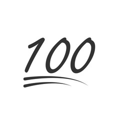 100 - hundred number icon symbol isolated on vector