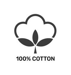 100 percent cotton - web black icon design vector