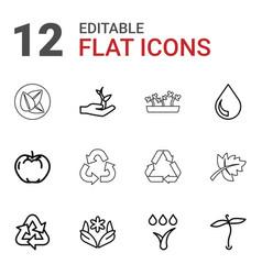 12 eco icons vector