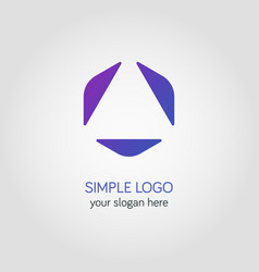 abstract business logo template in colorful vector image