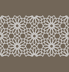 abstract geometrical seamless pattern in arabian vector image