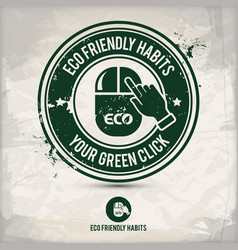 alternative eco habits stamp vector image