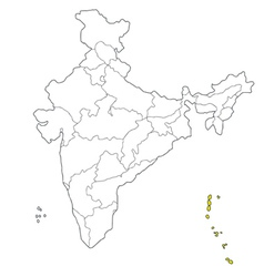 andaman and nicobar vector image