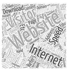 Anonymous Visitor Marketing Word Cloud Concept vector