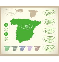 Bio Map ES Spain vector