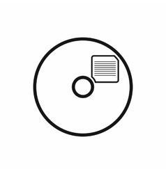 Blank CD icon in simple style vector