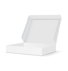 Blank packaging box mockup with open lid vector