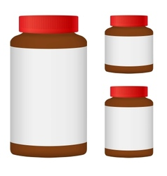 Brown Blank Bottle Set For Packaging Design Set 3 vector