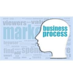 business process head profile icon woman vector image