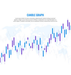 candle graph stock market exchange marketing vector image