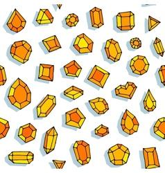 Cartoon doodle gems seamless pattern vector image