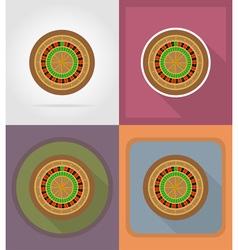 Casino flat icons 05 vector