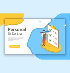 checklist on clipboard isometric flat vector image