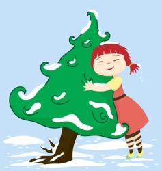 Cherie loves tree vector