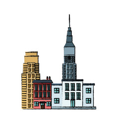 City building business commerce landmark image vector