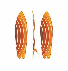 classic surfboard three-sided surfboard three vector image