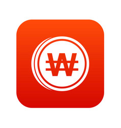 Coins wont icon digital red vector