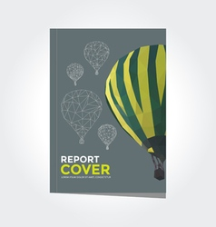 Cover report hot air balloon pattern vector image