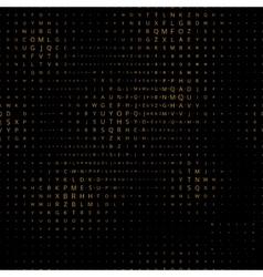 Digital letters pattern vector