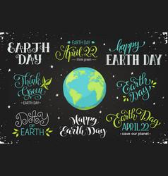 Earth day wording vector