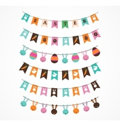 Easter decoration brush garlands vector
