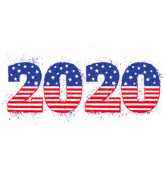 election 2020 like american flag vector image