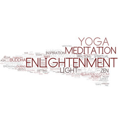 Enlightenment word cloud concept vector