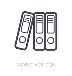 file folder outline icon workspace sign vector image