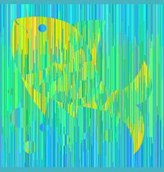 fish in sea colors vector image