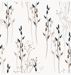 floral seamless pattern with wild meadow flowers vector image