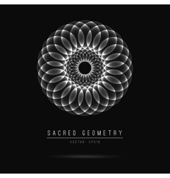 Flower of Life Sacred Geometry Symbol Harmony vector image