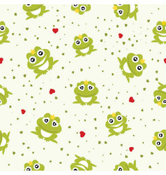 Frog Prince seamless background vector image