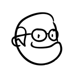Grandfather doodle draw vector