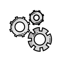 grayscale gear industry engineering process vector image vector image