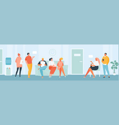 group people in queue vector image