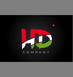 Hd h d alphabet letter logo combination icon vector