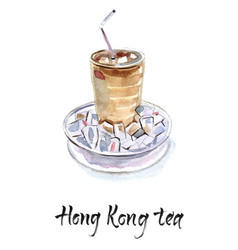 hong kong iced tea vector image