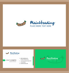 hot dog logo design with tagline front and back vector image