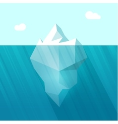 iceberg big berg in ocean vector image
