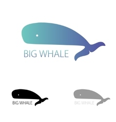 image of a big whale Whale logo for your vector image