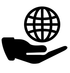 international business service icon vector image