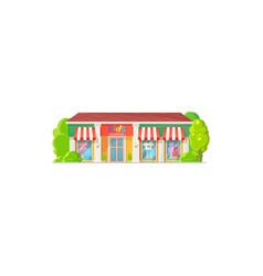 kid fashion clothing shop facade exterior isolated vector image