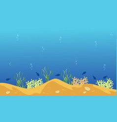 landscape of underwater style with fish vector image